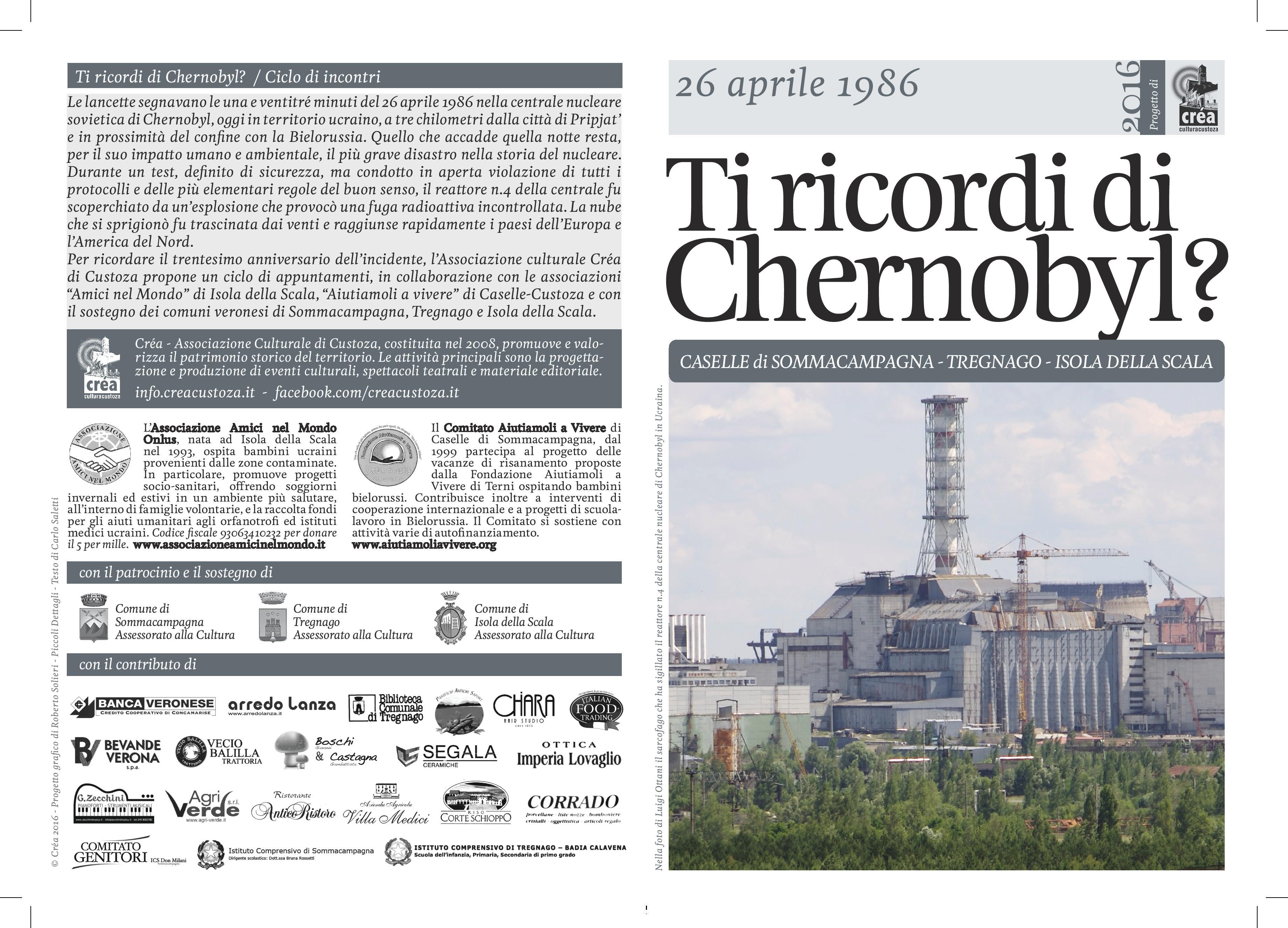 """Pieghevole """"Ti ricordi di Chernobyl?"""""""